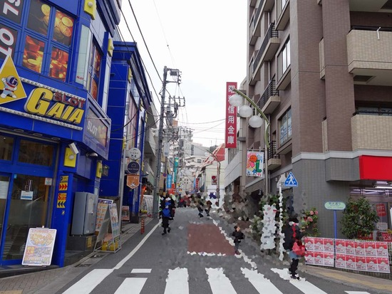 通りの入口