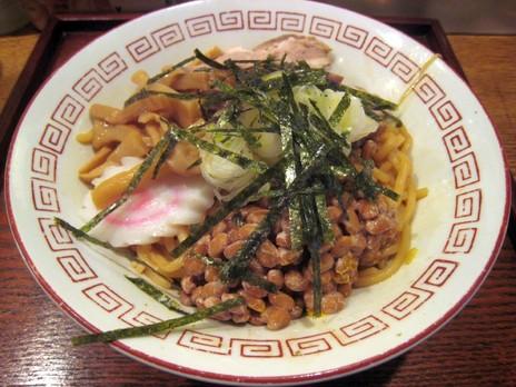とんちん亭(湯島)油そば(並)+納豆