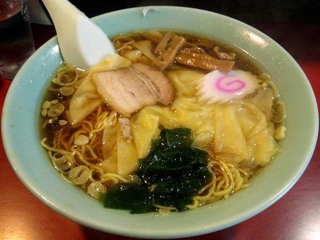 江戸川橋善の家のワンタン麺