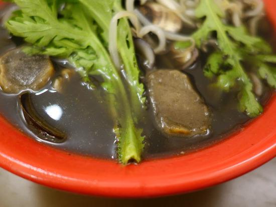 イカスミ入り黒しじみスープ