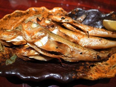 ハタハタ炙り@山形料理麺ダイニングととこ
