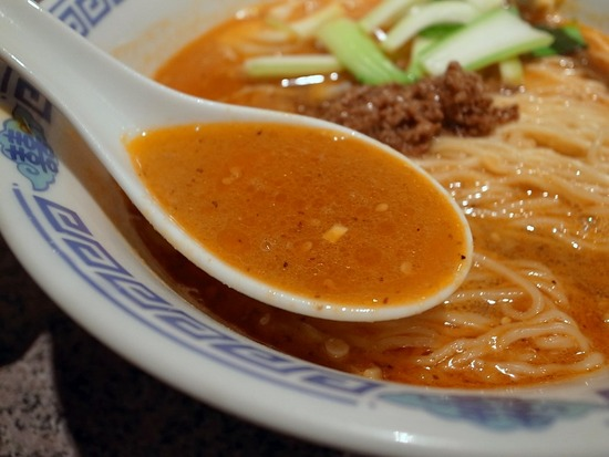 梅香の担々麺のスープ