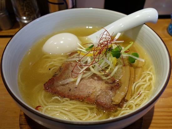 ひだまり@日暮里の味玉和塩らぁ麺