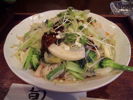 名茶名菜一片雲温野菜冷メン