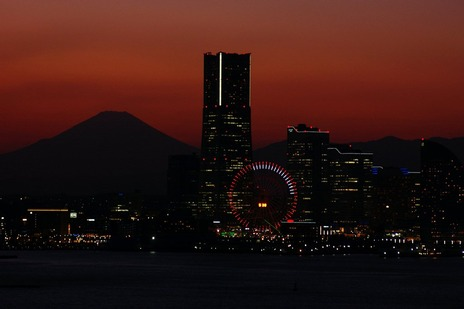 スカイウォークからみなとみらい富士山方面