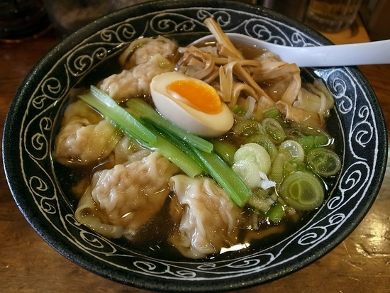 ワンタン麺@むあん