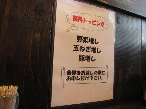 ぽっぽっ屋(湯島店)トッピングの案内