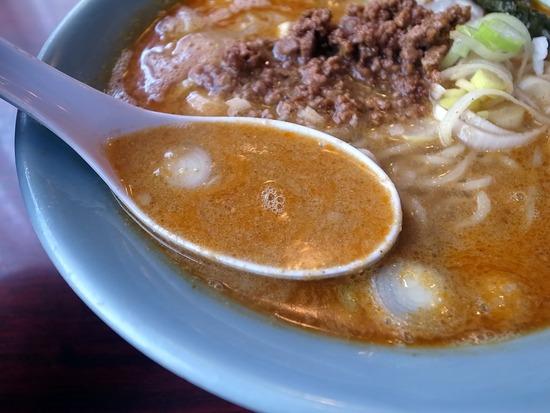蘭亭の担々麺スープ