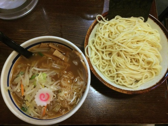 野菜つけ麺@大勝軒十五夜