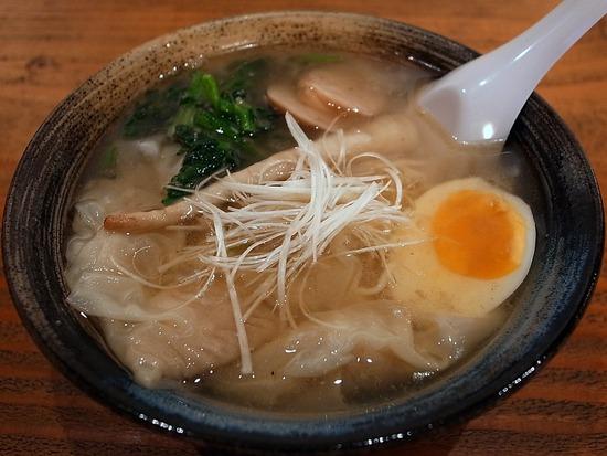 鶏塩わんたん麺@麺や藤井
