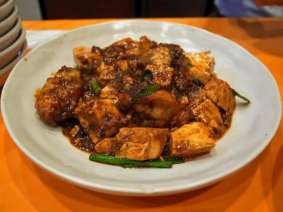 カキ入り麻婆豆腐