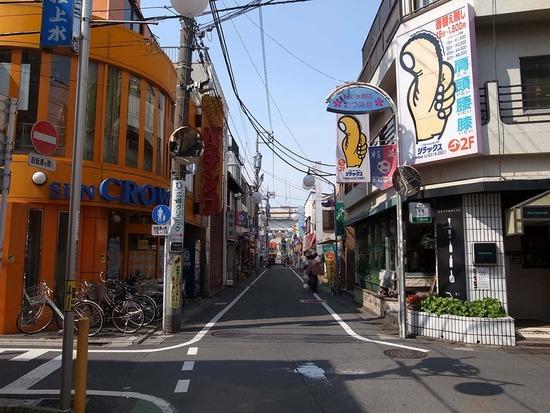 桜上水の商店街