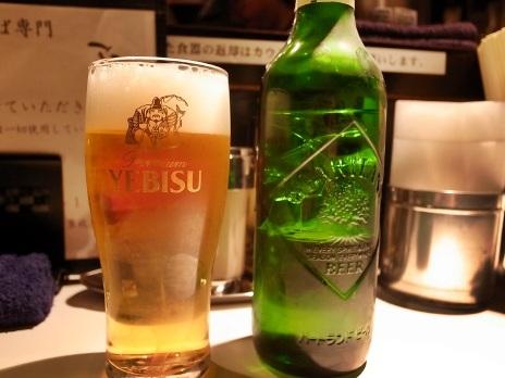 YEBISUのグラスだけどハートランド