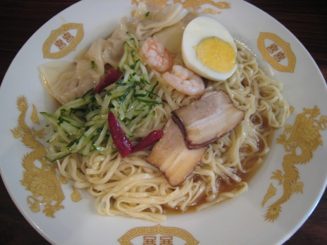 広島ラーメン呉冷麺「麺皇」200809ワンタン冷麺