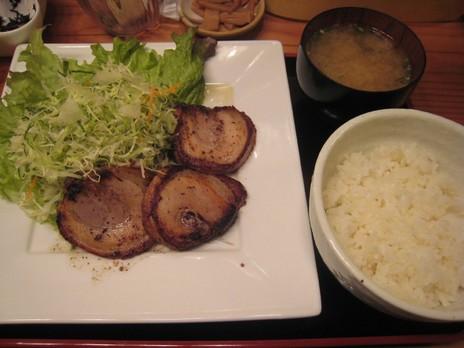 三亀勢(桜上水)チャーシューステーキ定食