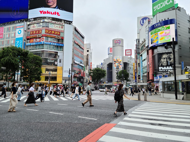 渋谷スクランブル交差点2020年6月