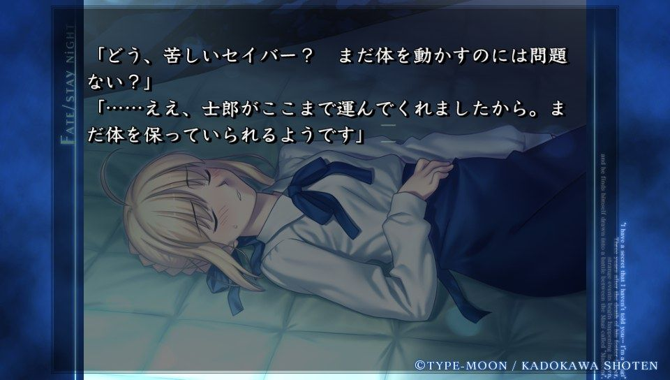 fate stay night pc 版 違い