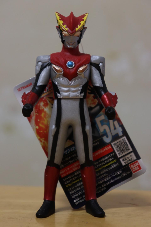 ロッソフレイムのソフビ(Ultraman rosso flame soft vinyl figure)