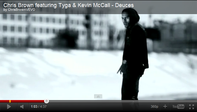 68cb4b243c Meister watch on Chris Brown featuring Tyga & Kevin McCall - Deuces ...