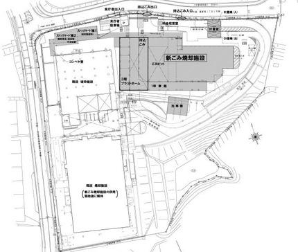 新クリーンセンター 完成後の平面図1