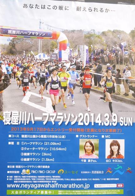 寝屋川ハーフマラソン ポスター