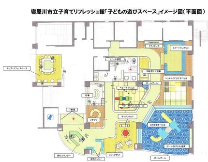 1階の平面図