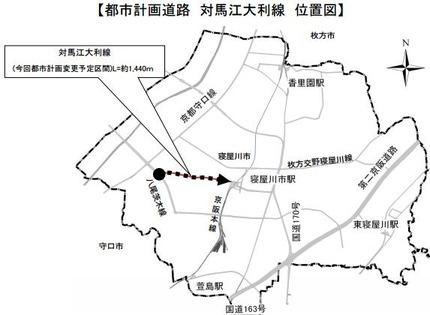 対馬江大利線 位置図