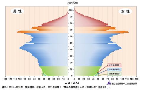 人口ピラミッド_2015