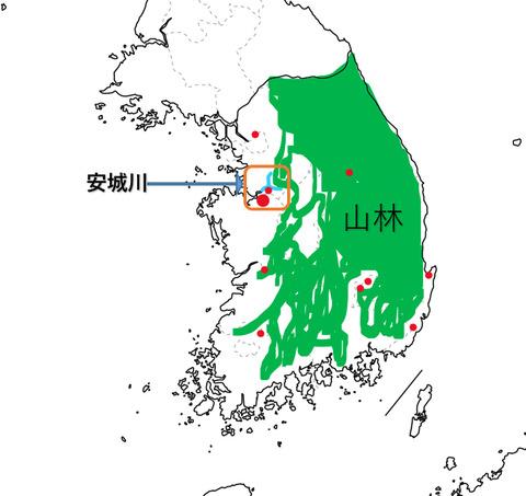 韓国、米軍再編地図