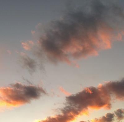 2020大晦日の夕焼雲