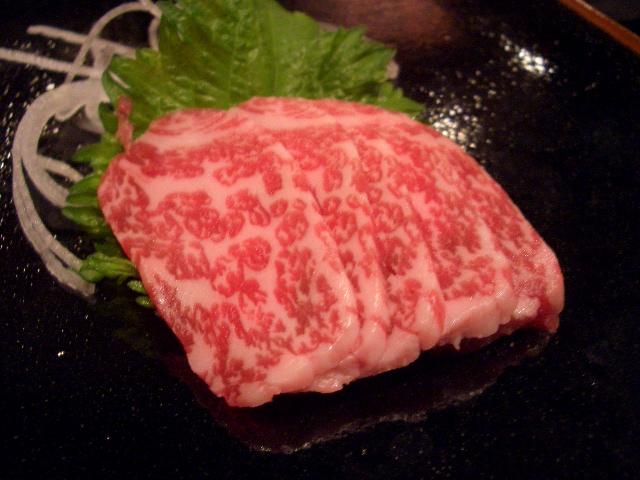 和牛肉の刺身