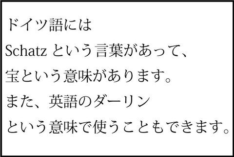 一コマ-Schatz①