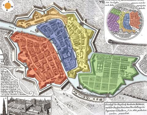Festung-Berlin-1688-色分け