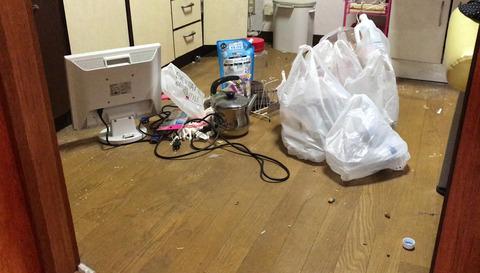 キッチン床-ゴミまとめ
