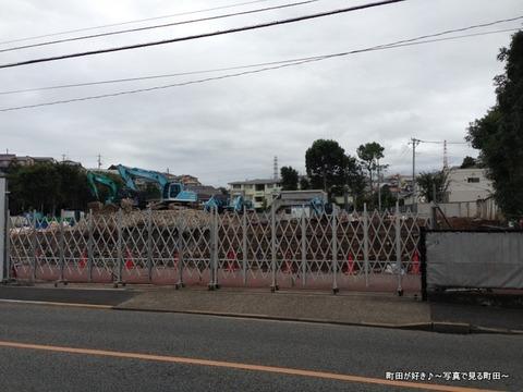 2014083105オーディオテクニカの建屋が解体されていた!@成瀬街道