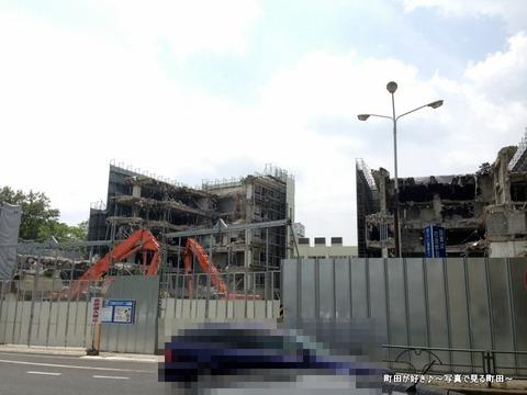 2013060920町田市役所・旧庁舎、解体工事の様子です