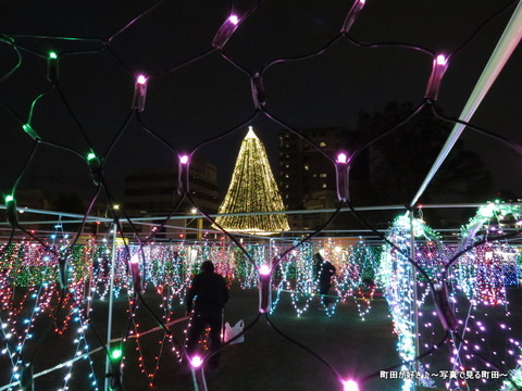 2014113018町田シバヒロ(旧町田市役所跡)のクリスマスツリー