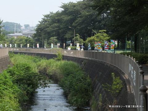 2013071418恩田川遊歩道フラッグアート