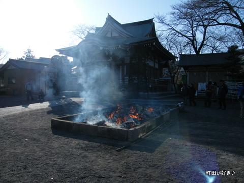 20100110111高ヶ坂熊野神社だんご焼き