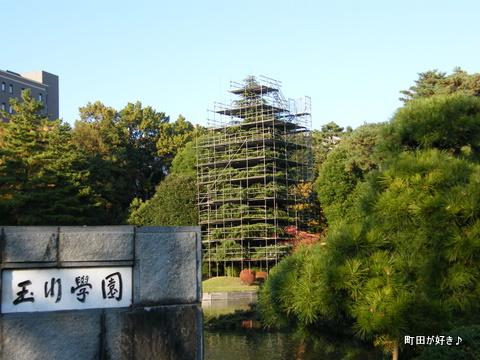 2009112335 クリスマスツリー準備中@玉川学園