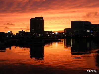 2009111451 横浜の夕焼け