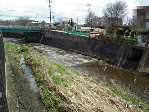 2012032519恩田川・高瀬橋下の工事