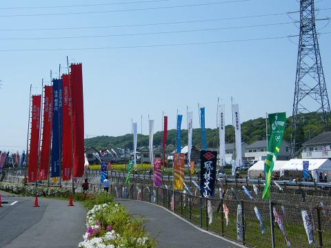 20090429106.jpg 平成21年第6回鶴見川泳げ鯉のぼり
