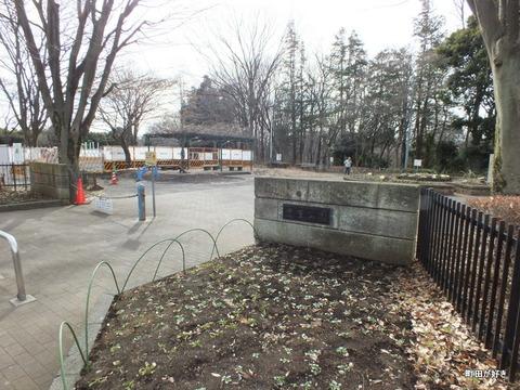 2013010601忠生公園内のふれあい橋が解体工事中
