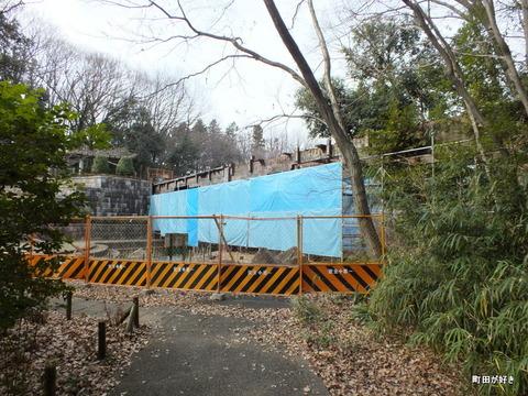 2013010651忠生公園内のふれあい橋が解体工事中