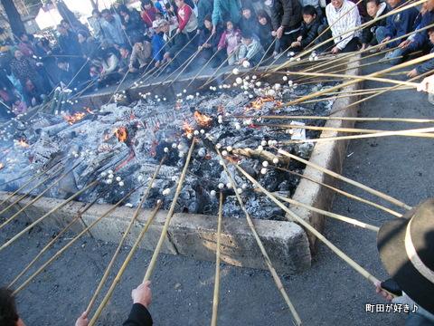 20100110135高ヶ坂熊野神社だんご焼き
