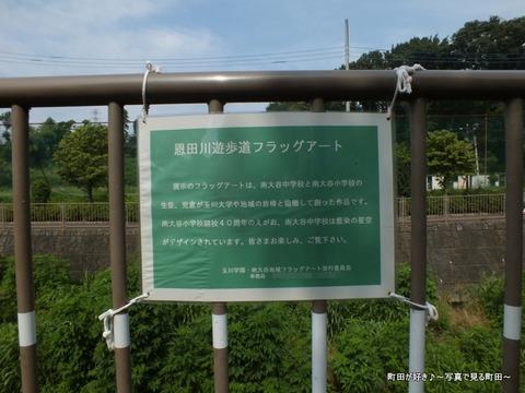 2013071413恩田川遊歩道フラッグアート