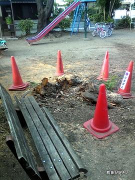 20110925006これも台風の傷跡?@金森2丁目児童遊園