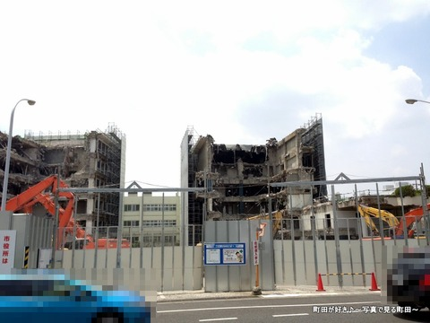 2013060919町田市役所・旧庁舎、解体工事の様子です
