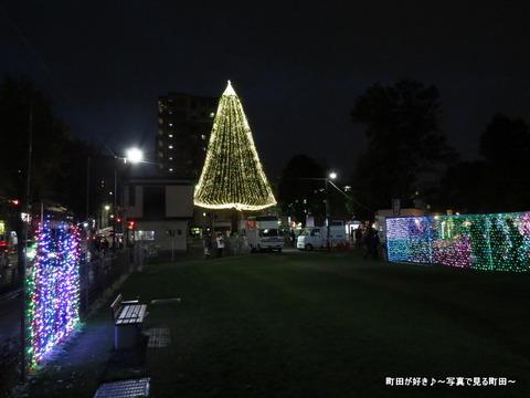 2014113011町田シバヒロ(旧町田市役所跡)のクリスマスツリー
